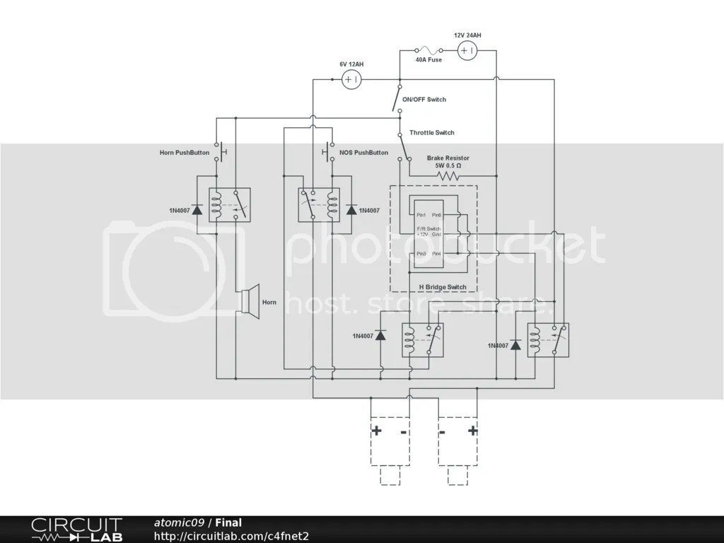 power wheels 6v wiring diagram 4 ohm subwoofer 12v 43 quotnos quot with relays help