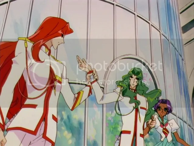Touga rescuing the damsel in distress