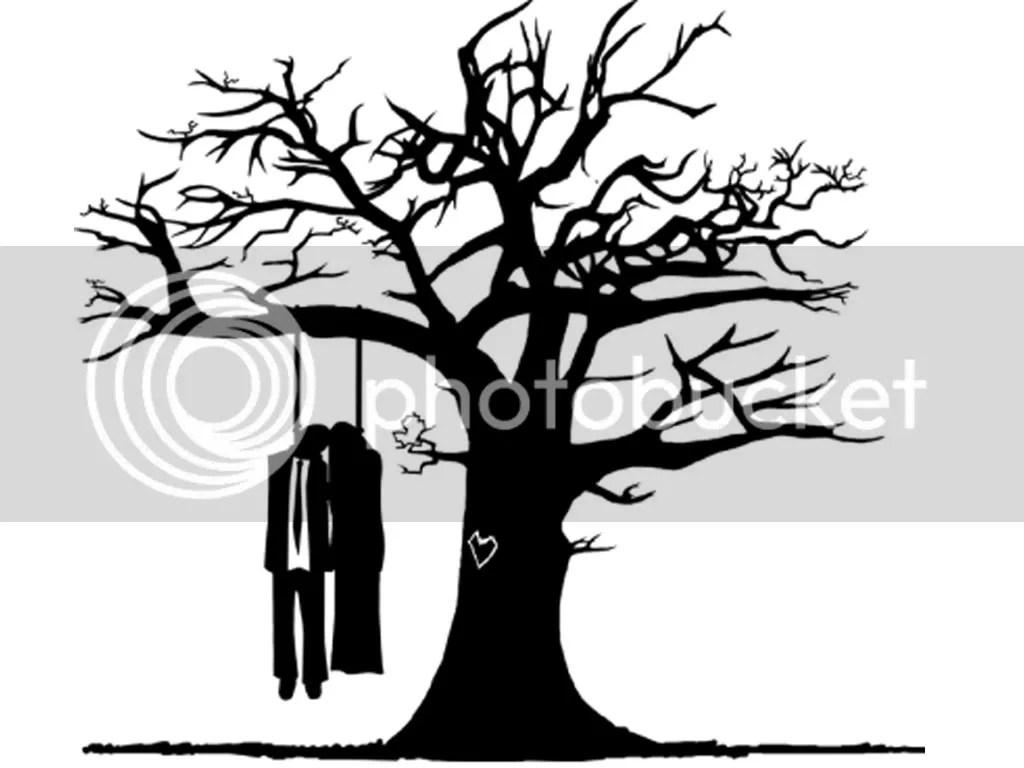 Black Emo Love Hang Tree Background Photo by Linzeejojo