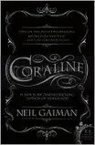 Book cover of Coraline by Neil Gaiman