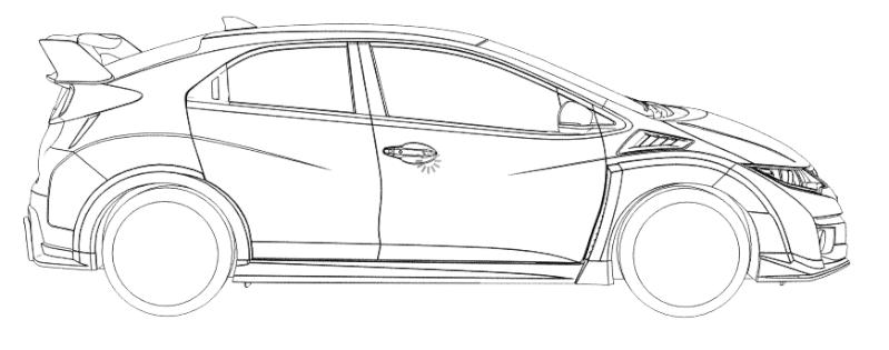 Pixel Car Art > Civic Turbo Type-R 2015