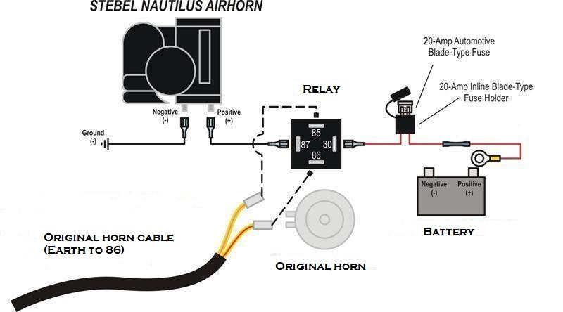Pin Car Horn Relay Wiring Diagram On Pinterest
