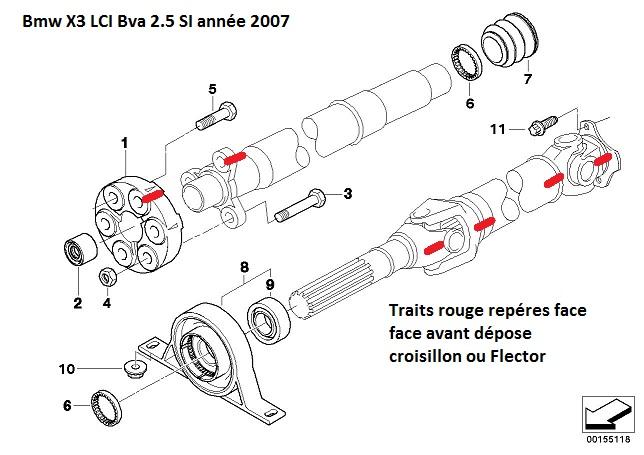 [ Bmw E83 X3 LCI Bva 2.5 SI an 2010 ] Problème croisillon
