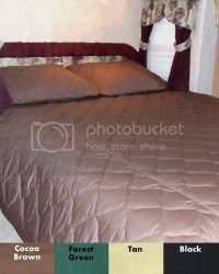 RV Bedspread / Short Queen Comforter + Shams 3 colors