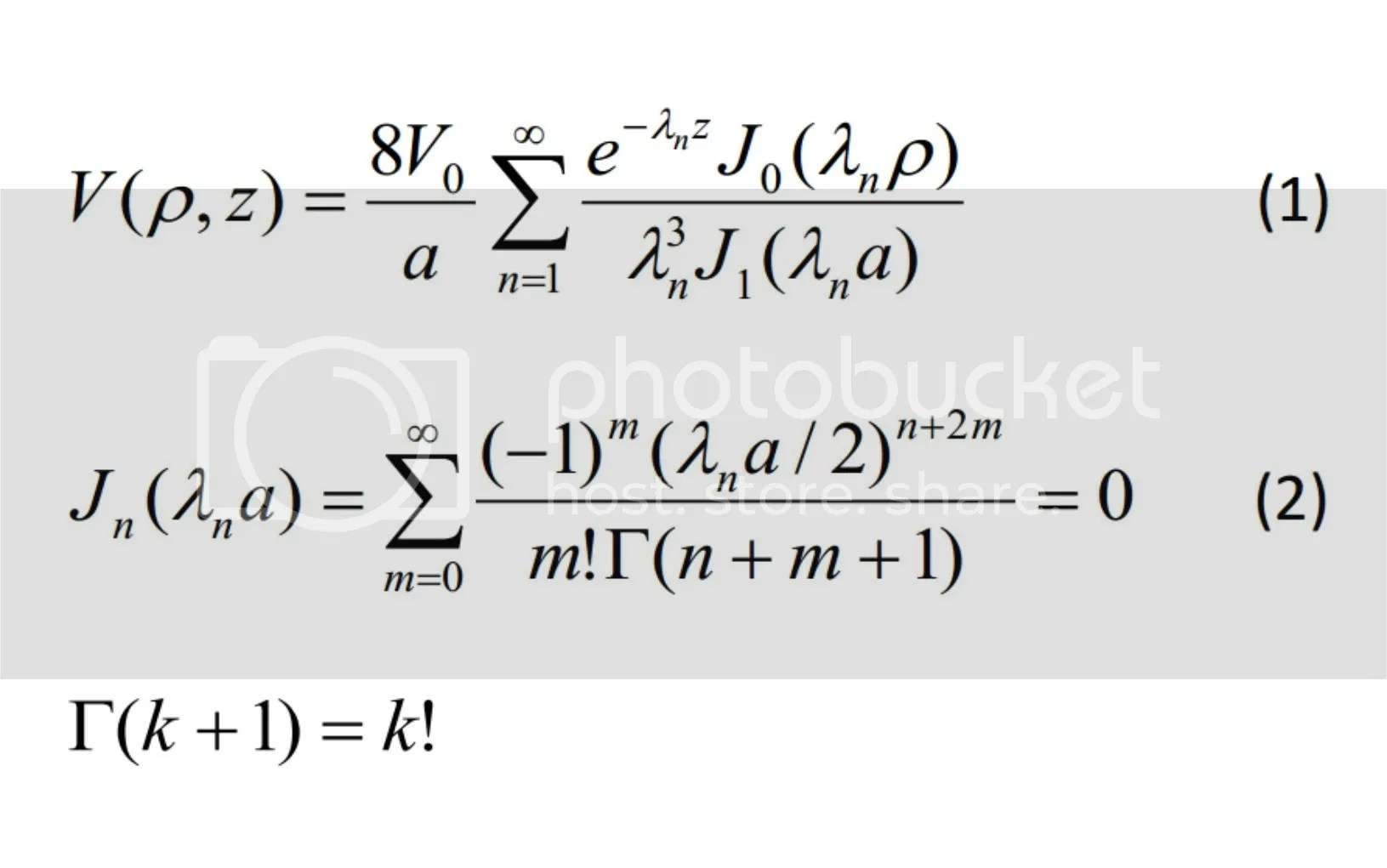 Iterative procedure for potential distribution of a