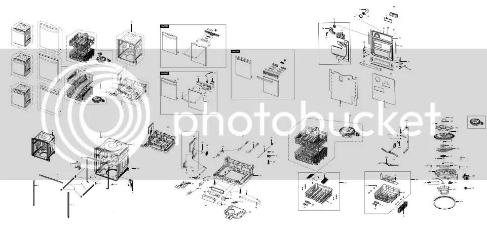 Samsung DMT800RHW DMT800RHS DMT800RHB Dishwasher Service