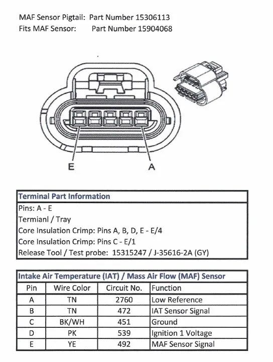 Mass AirFlow Sensor For A 2007 C6 LS2 With 58x Reluctor