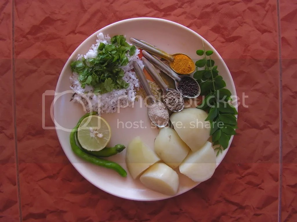 Ingredients of Alu Parata
