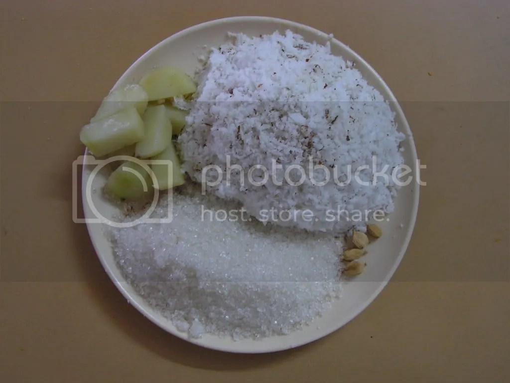 Ingredients of Coconut Burfi