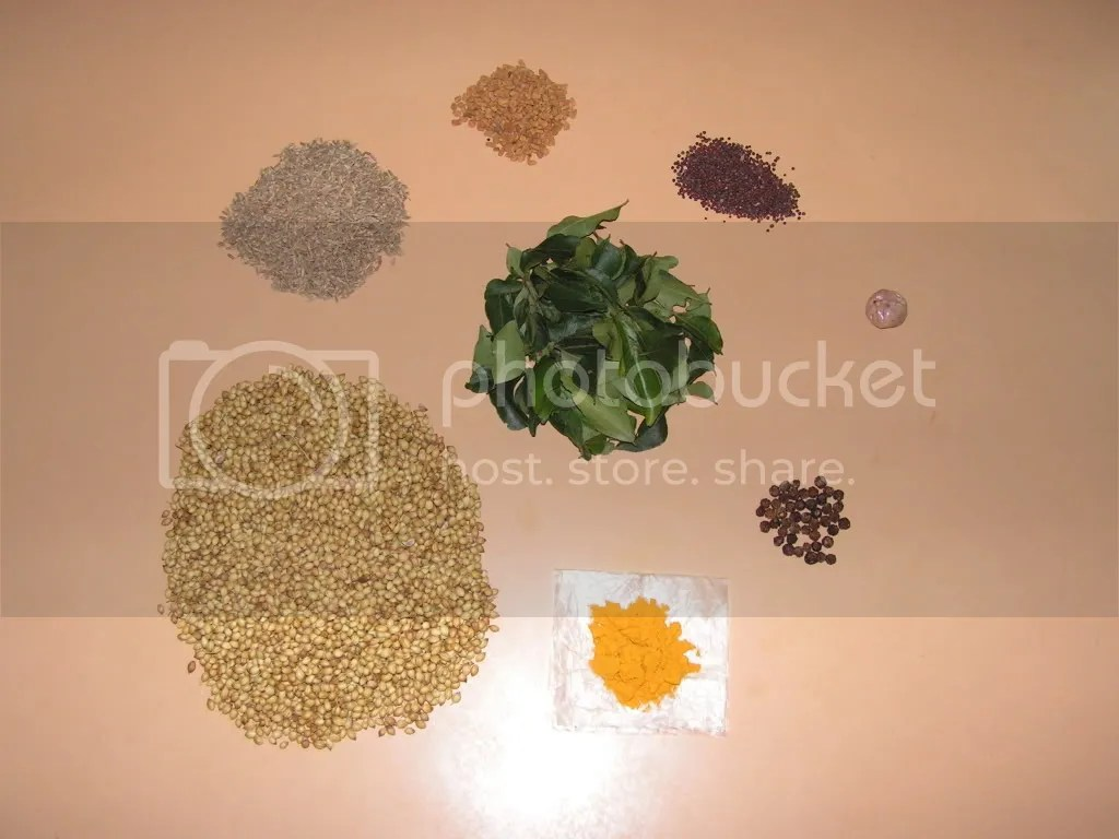 ingredients of Rasam powder