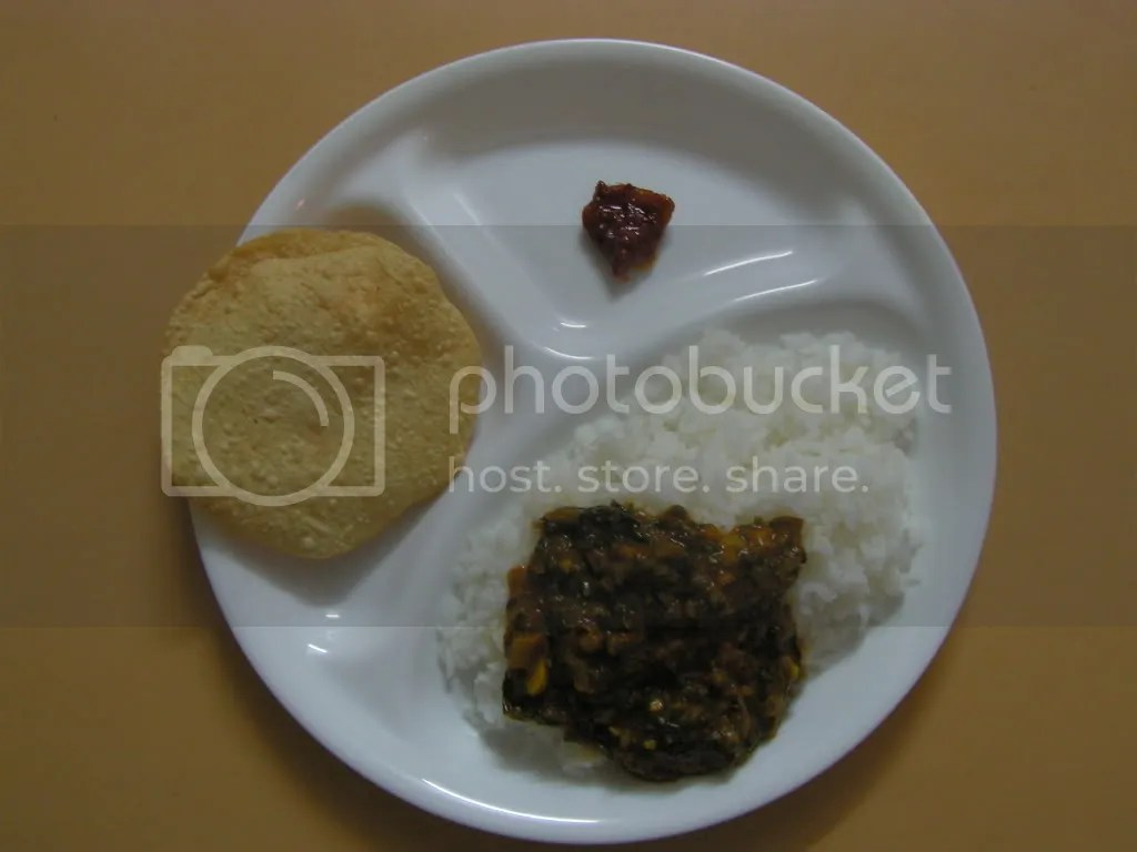 Dal Palak with Rice