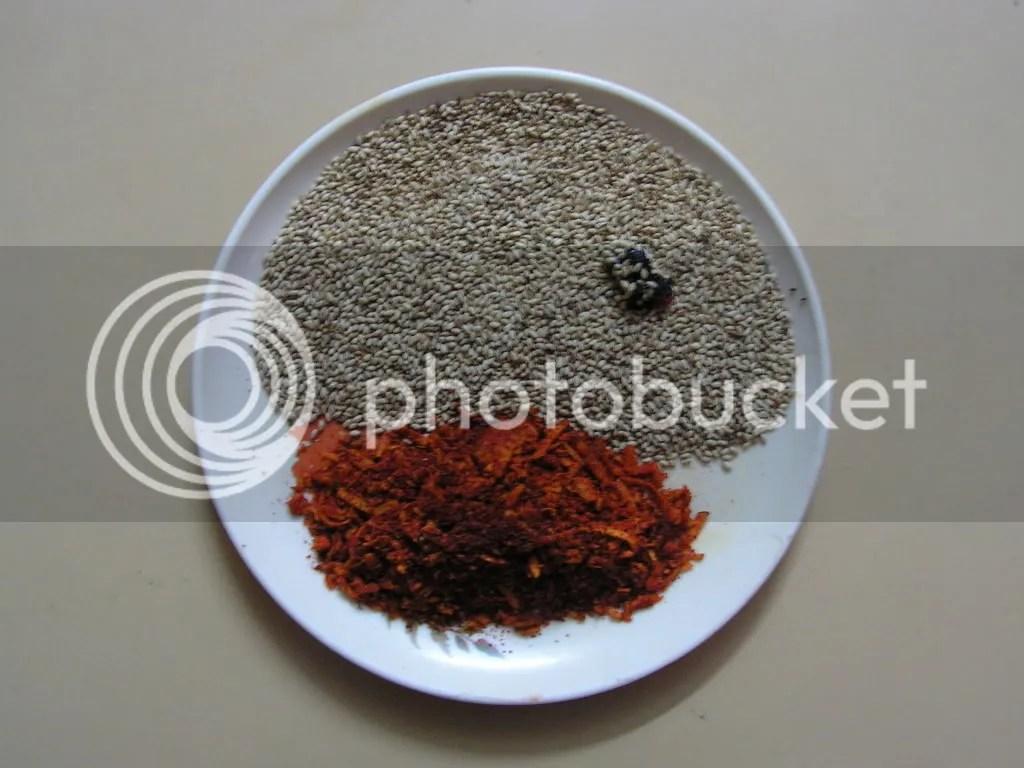 Dry roasted ingredients