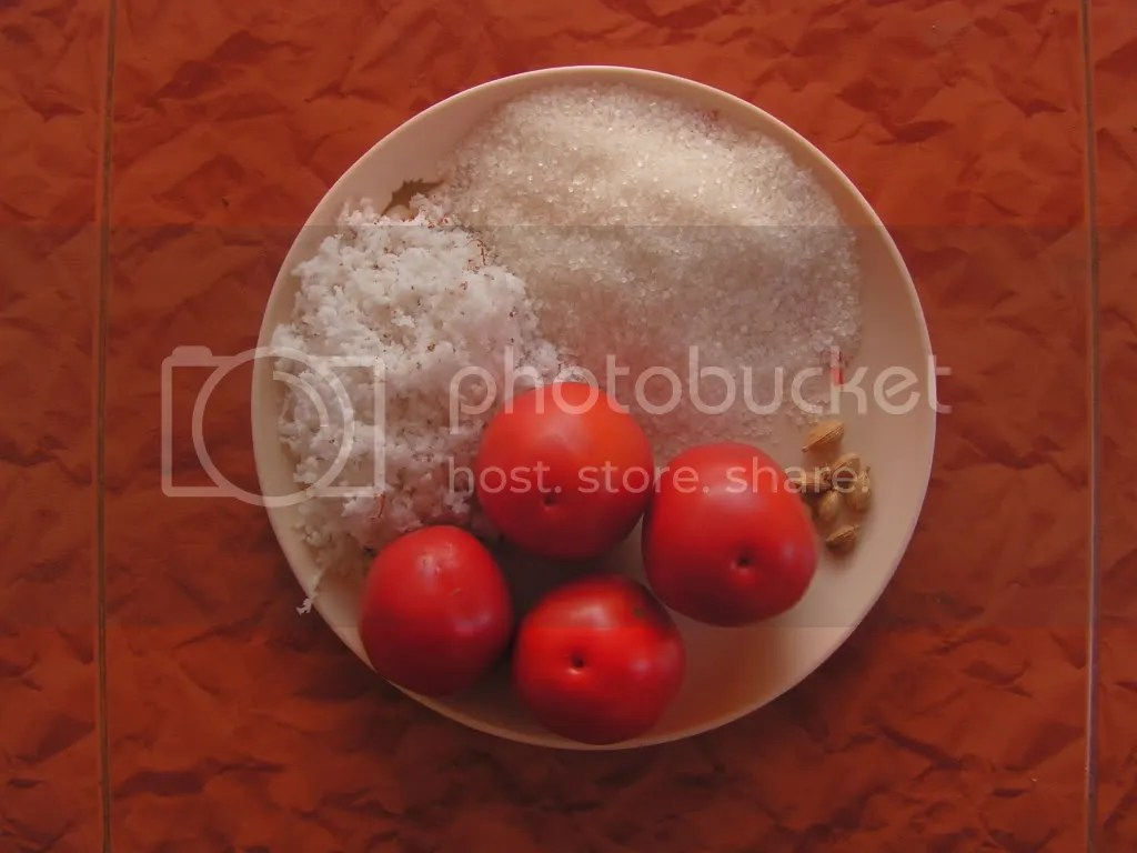Ingredients of Tomato Burfi