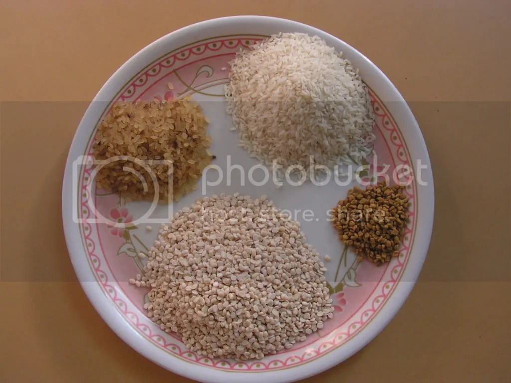 Ingredients of Masala Dosa
