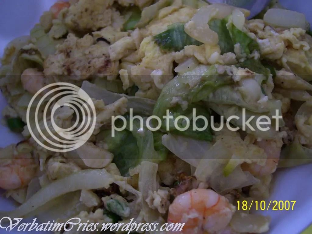 Egg Lettuce prawn