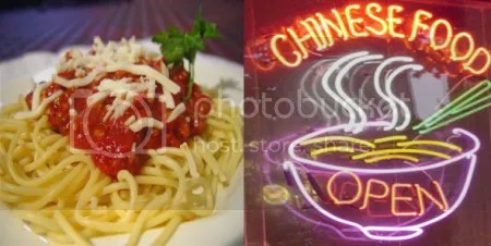 Authentic Italian food served the traditional Chinese way