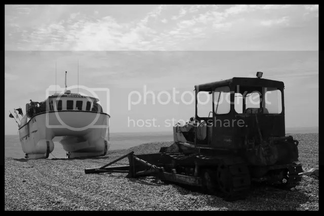 Boat and Tractor