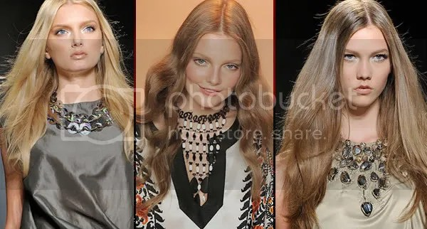 Flowing hair style trend 2009