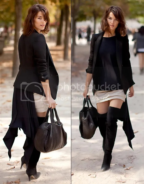 Topshop over-the-knee boots street style