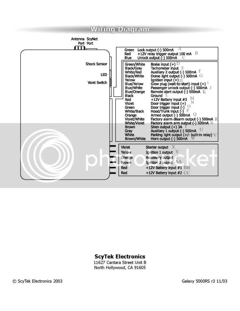 scytek a20 wiring diagram