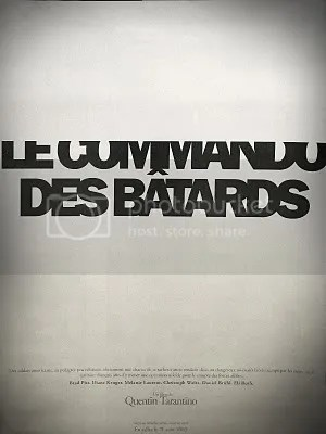 typo,typographie,film,Commando des bâtards,noir,blanc,gris,Sherbrooke