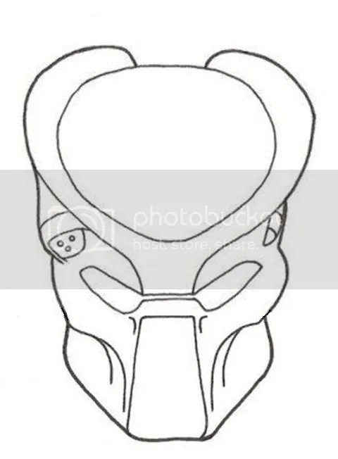 Blade Wolf Predator Mask Coloring Pages