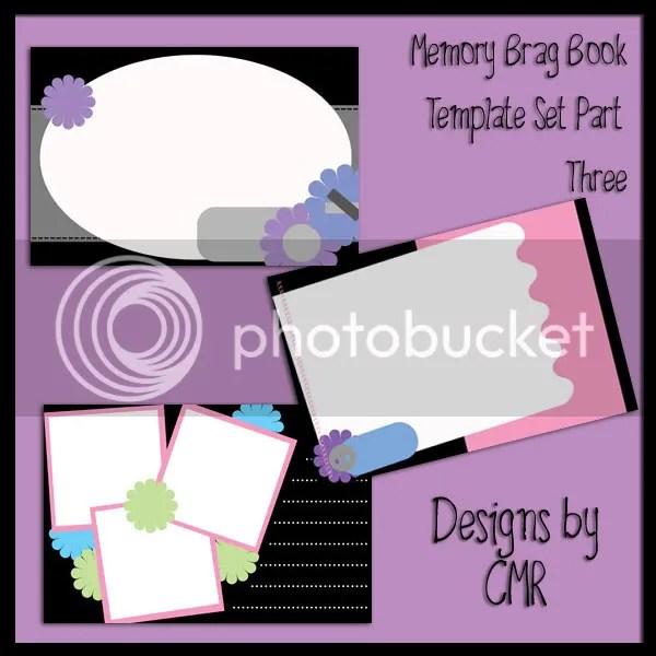 Memory Brag Book Template Set Part 3