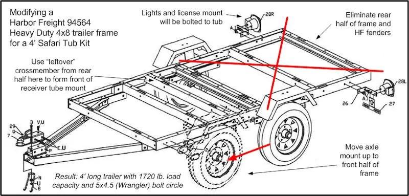 u tube viking tent trailer install adaptor 4 flat to 7 round