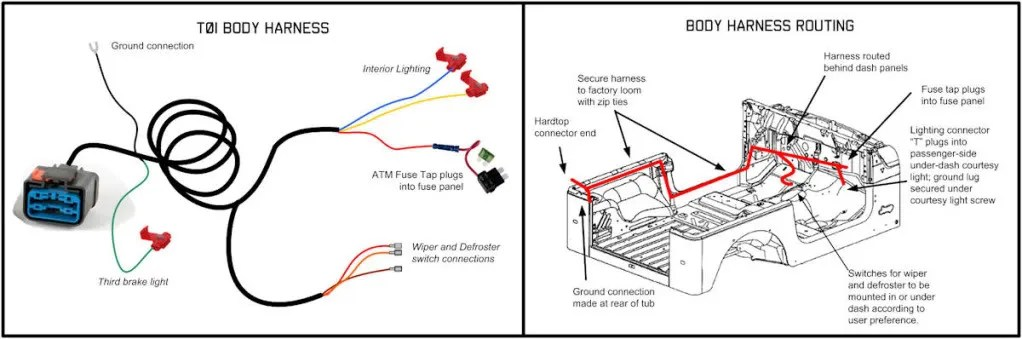 Jeep Wrangler Hardtop Wiring Harness Jeep Wrangler Hardtop Wiring