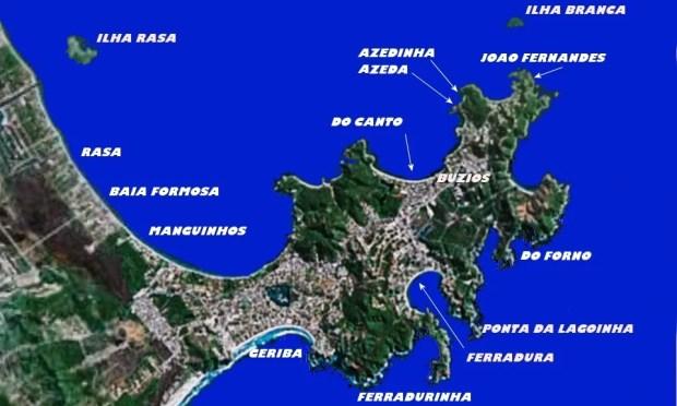 Buzios map peninsular