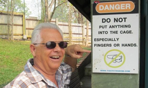 Chiang Mai tiger warning Thailand