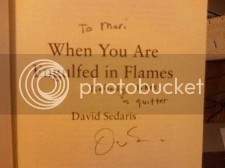 Signed David Sedaris!