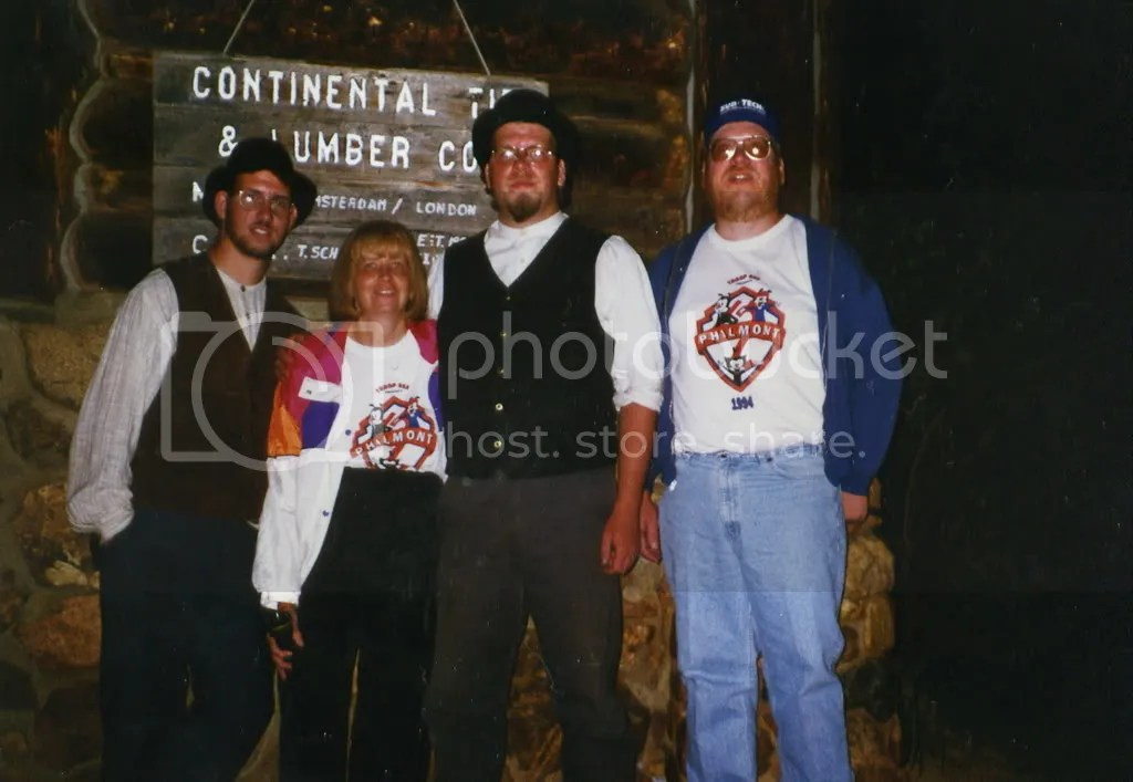 Philmont Scout Ranch, NM, 1996 - Kevin, Mom, Me, Dad - do we really look alike?