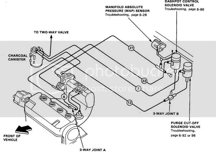 91 Civic Hatchback/Vacuum Hose Diagram and won't smog