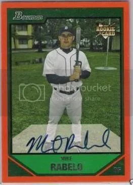 Mike Rabelo 2007 Bowman Gold Autograph