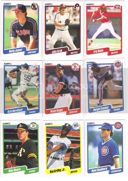 1990 Fleer Jumbo Pack Break