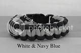 White & Navy Blue