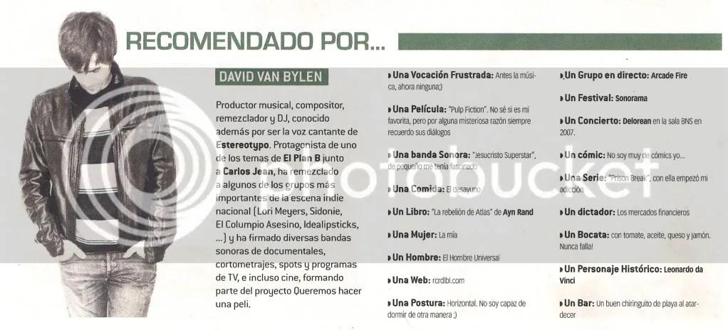 Recomendado por... David Van Bylen (Mondosonoro)