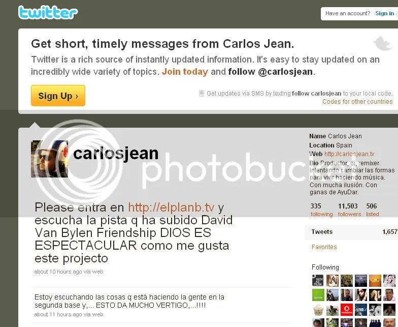 Twitter de Carlos Jean