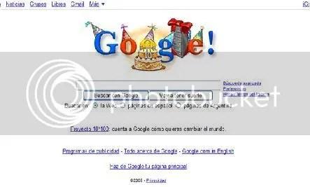 10 aniversario de google