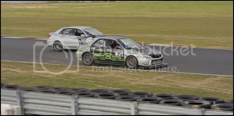 Me passing Phils race car as he cools down