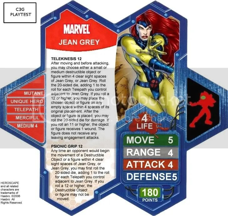 C3G Jean Grey Playtest
