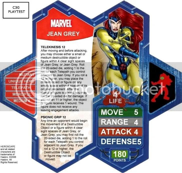 C3G Jean Grey Playtest