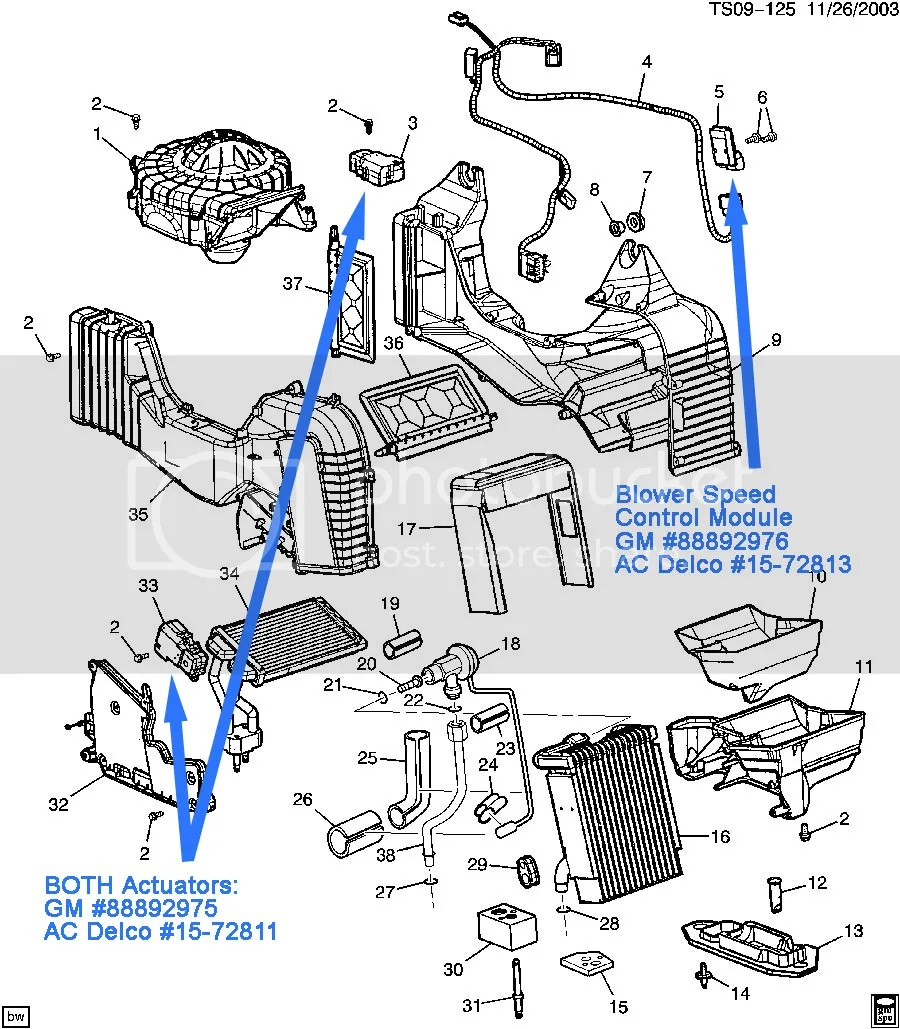hight resolution of envoy ac heater diagram wiring diagram centre 2005 trailblazer ext rear blower problems gmtnationfor your rear