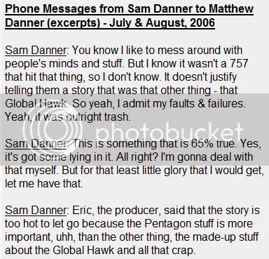 Danner Admit Lying