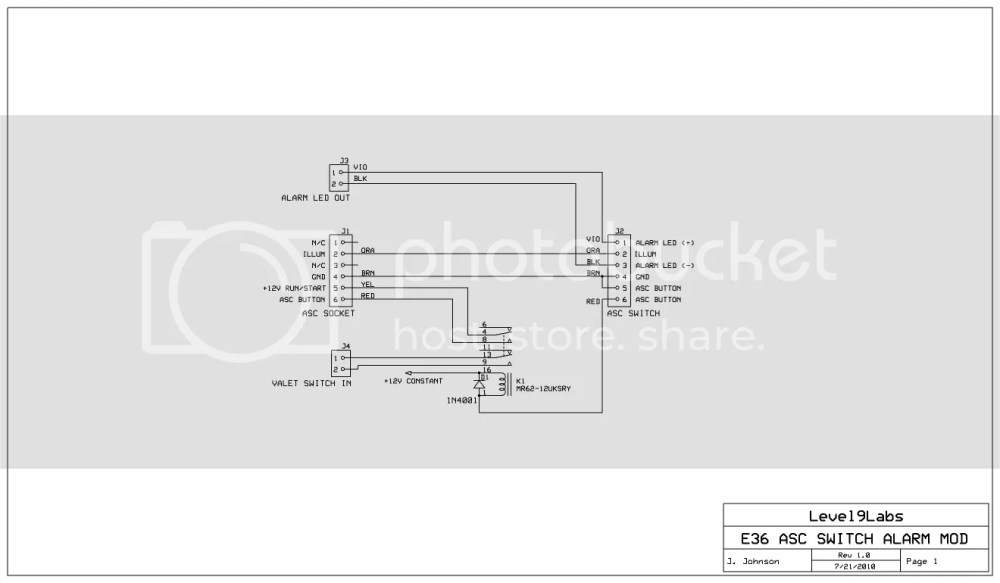 medium resolution of diy asc switch stealth alarm led and valet buttonvalet wiring diagram 2