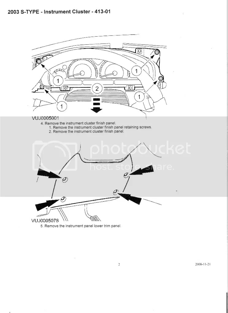 Service manual [How To Remove Instrument 2008 Jaguar Xj