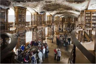 The Stiftsbibliothek, or abbey library, in the Swiss town of St. Gallen