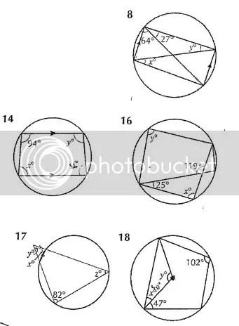 A few circle theorem questions (having a bit of trouble)