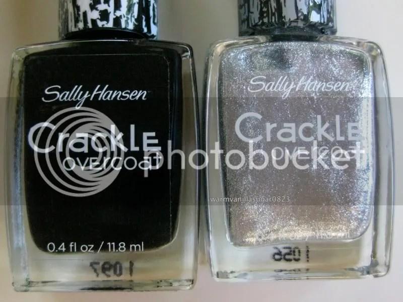 Sally Hansen Crackle Overcoat,Sally Hansen Spilled Ink,Sally Hansen Fractured Foil,warmvanillasugar0823